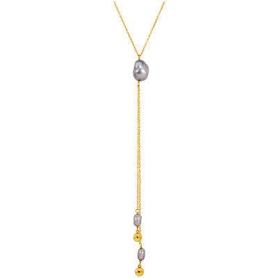 Gorjana Vienna Cultured Freshwater Pearl Adjustable Lariat Necklace 188111139G