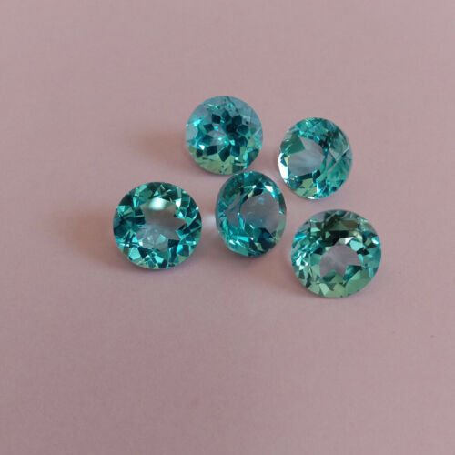 GTL CERTIFIED 15 Pcs Lot Natural Sky Blue Topaz 6X6mm Round Faceted Cut