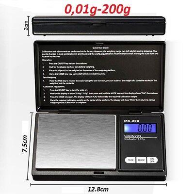 Bascula de precision Balanza digital 0,01 - 200gr. Balance