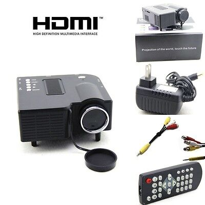 Original UC28 PRO Portable Mini LED Projector Home Cinema Theater AV VGA USB