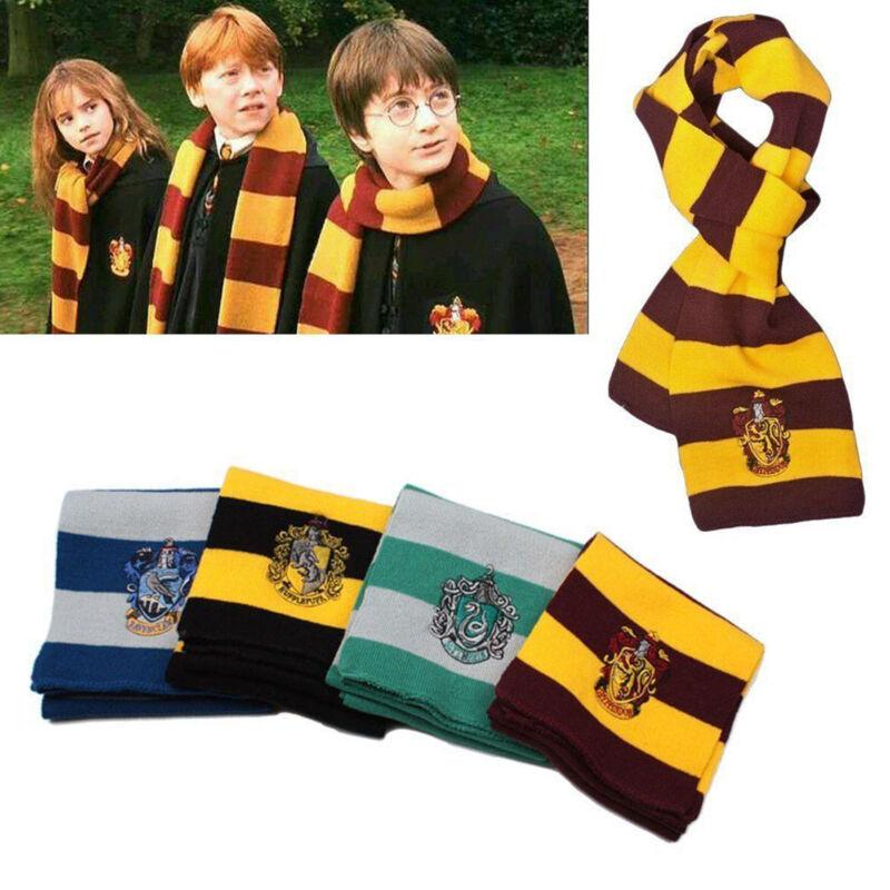Harry Potter Gryffindor Hufflepuff Kids Fancy Cosplay Knit Wool Scarf Wrap Warm