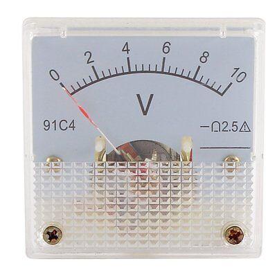 Dc0-10v Analog Panel Voltmeter Voltage Meter Measuring Gauge Class 2.5