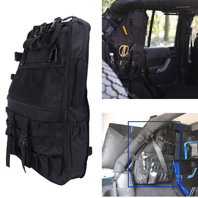 Jeep Roll Cages - 1x Left Roll Bar Storage Cargo Bag Cage Trunk Accessories For Jeep Wrangler JK