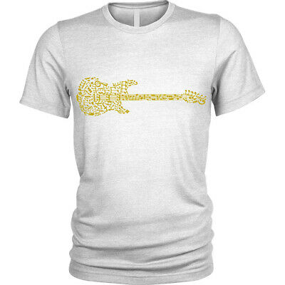 Guitar Notation T-Shirt music guitarist player band Unisex (Sunglasses Music Player)