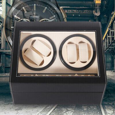 Automatic Watch Winder 4+6 Watch Display Box Jewelry Storage Case Organizer Gift