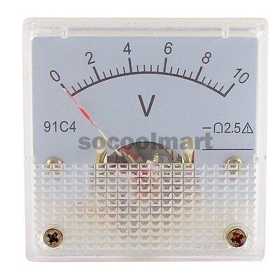 New Dc 10v Analog Panel Volt Voltage Meter Voltmeter Gauge 91c4 0-10v