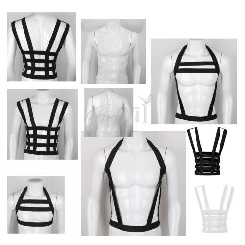 Men Chest Harness Leather Body Gothic Underwear Buckle Clubwear Costume Belt