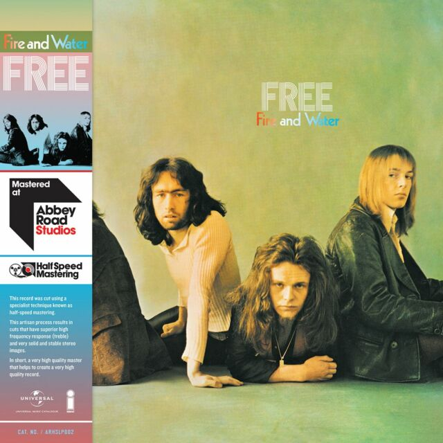 FREE FIRE AND WATER 180 GRAM VINYL SET HALF-SPEED MASTERED (July 1st 2016)