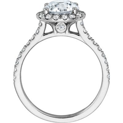 Gorgeous 2.20 Ctw Round Cut Halo Diamond Engagement Ring H  VS2 - GIA Certified 2
