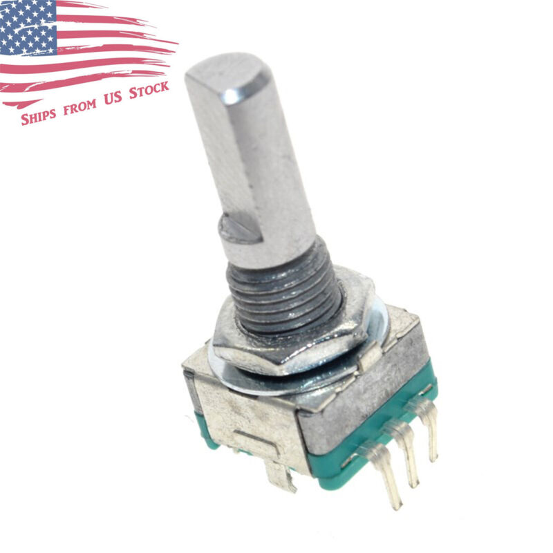 EC11 Rotary Encoder Digital Potentiometer 20mm D Shaft with Switch EC-11