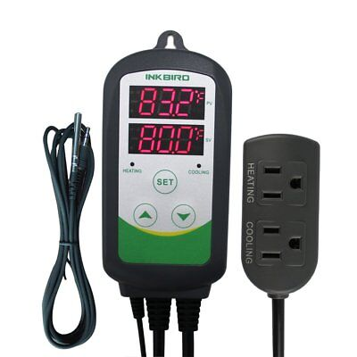 Inkbird Aquarium Dual Stage Temperature Controller Ntc Sensor Ac 100v - Ac