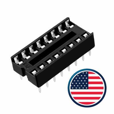 10-20 Pcs 16 Pin Dip Ic Sockets Adaptor Solder Type Socket Dual Wipe Choose Qty