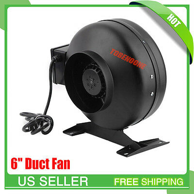 6 Inch Inline Duct Fan Blower High Cfm Cool Vent Exhaust With Bracket Us Tn