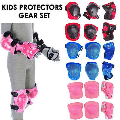 Set of 6 Children Pad Kids Wrist Elbow Knee Protectors Gear Set Minor Defect UK