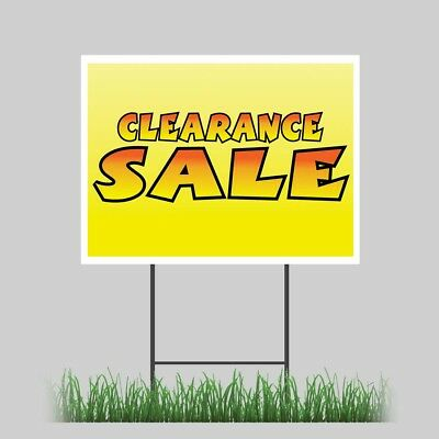 12x18 Clearance Sale Inventory Closeout Store Yard Sign Outdoor Coroplast