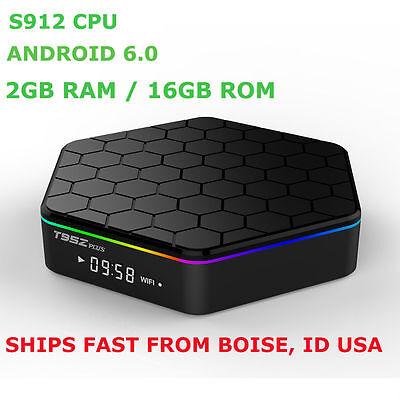 T95Z Plus Andriod 6.0 TV Box 2G/16G S912 Octa Core Bluetooth 4.0 Dual Band Wi-Fi
