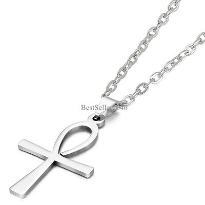 Egyptian Ankh Jewelry Pendant - Egyptian Ankh Cross Of Life Egypt Symbol Pendant Necklace Stainless Steel Chain