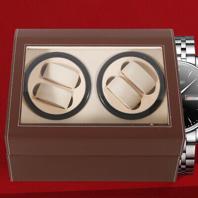 Leather Watch Winder Storage Auto Display Case Box 4+6 Automatic Rotation hot