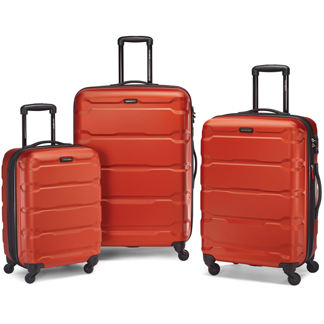 Samsonite Omni Hardside 3 Piece Nested Spinner Luggage Set (20, 24, & 28 Inch) Burnt Orange