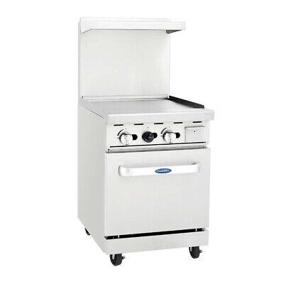 Atosa Usa Agr-24g-lp 24 Gas Restaurant Range 1 Space Saver Oven 1 Griddle