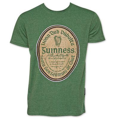Guinness Label (Guinness Gaelic Label TShirt Green)