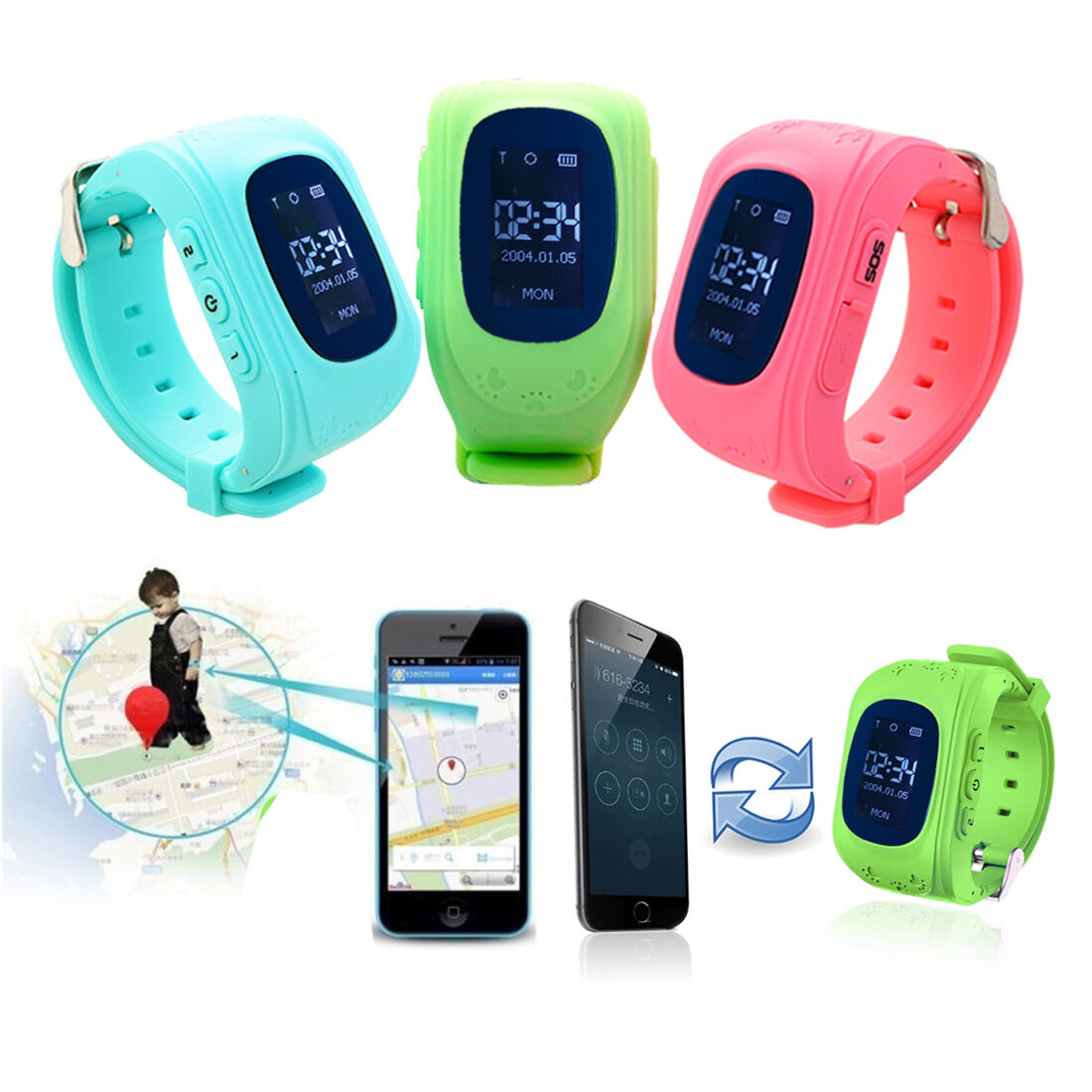 gps tracker sos call children smart watch for android ios. Black Bedroom Furniture Sets. Home Design Ideas