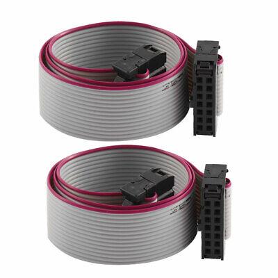 2Pcs 30cm Cable de cinta plana para placa base IDC 14 pines...