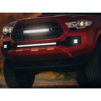 2016 2017 Toyota Tacoma Rigid Industries LED Mesh Grille With LED Light Bar