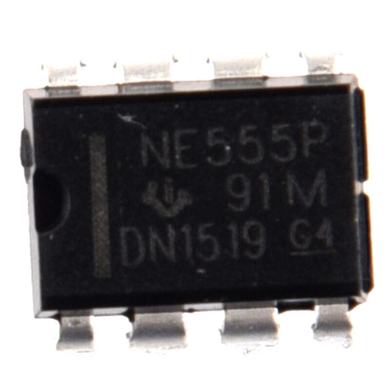 50PCS NE555P NE555 DIP-8 SINGLE BIPOLAR TIMERS IC DT