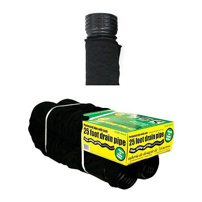 50510 Perforated Corrugated Flexible Landscape Drain Pipe with Sock, 4″ x 25′ Home & Garden