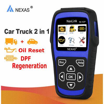 NEXAS NL102P Heavy Duty Truck Diagnostic Scanner Code Reader DPF Regen Oil