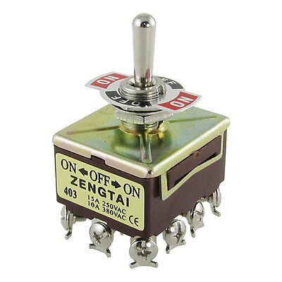 Zengtai 10a380vac 15a250vac 3 Position 4pdt Onoffon 12 Pin Toggle Switch Lw