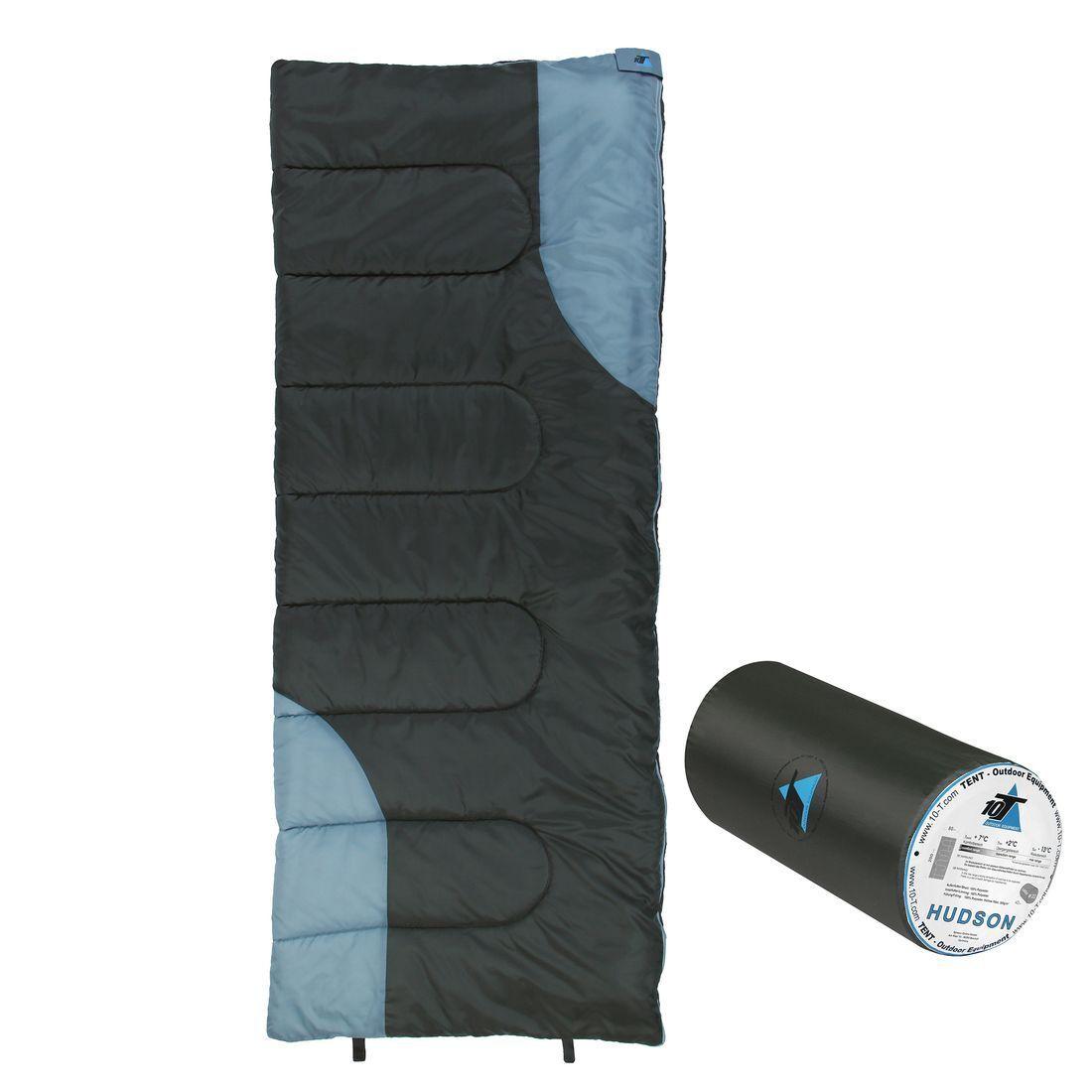 10T Hudson Camping Schlafsack -13°C Outdoor Deckenschlafsack 200x80 cm 1400g