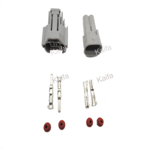 Nippon Denso 5 Set 2 Pin Fuel Injector Plug Electrical Wire Connector Plug Kits
