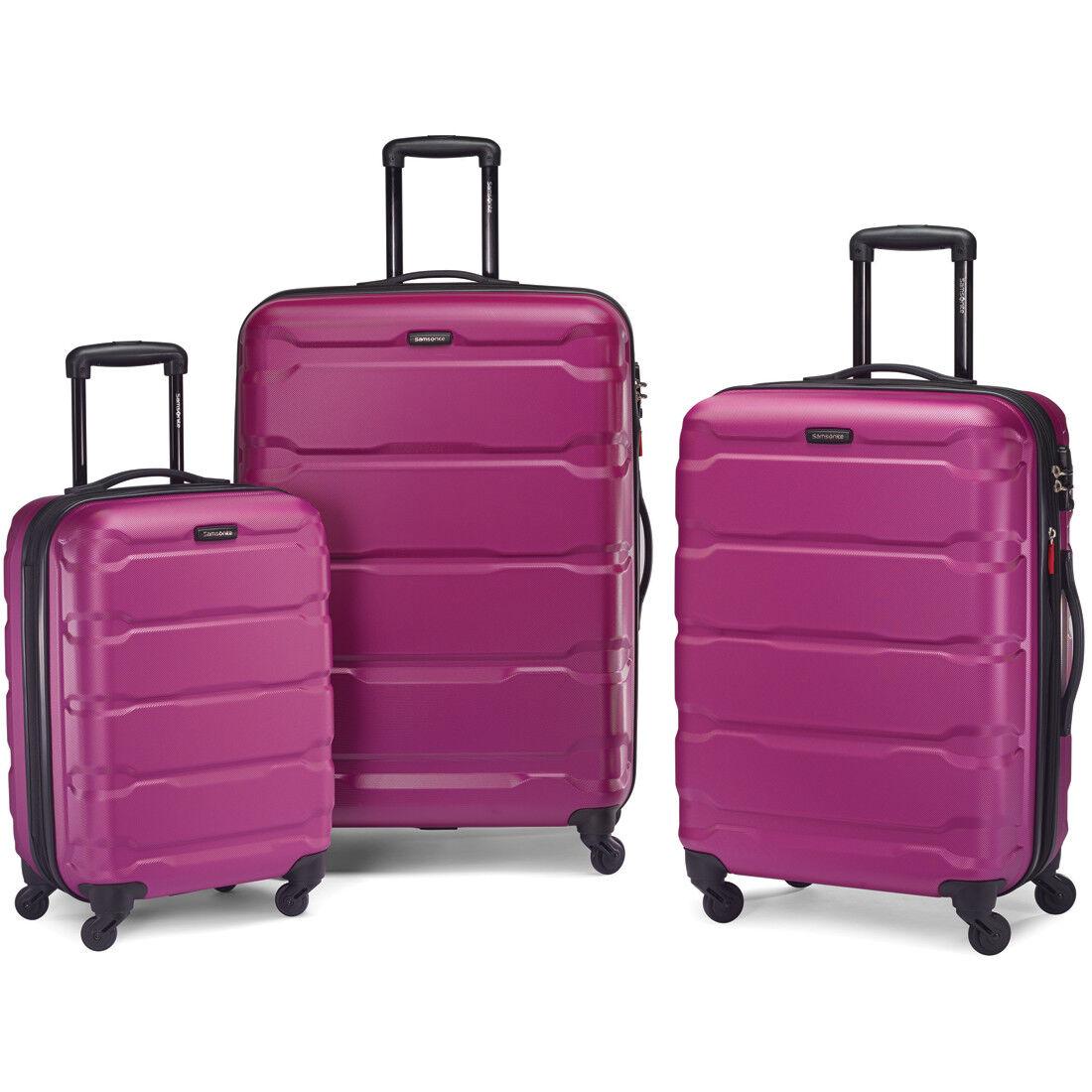 Samsonite Omni Hardside 3 Piece Nested Spinner Luggage Set (20, 24, & 28 Inch) Radiant Pink