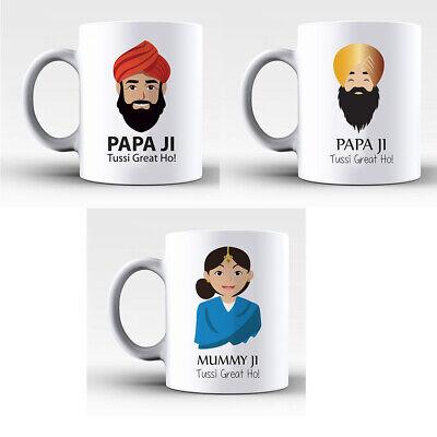 The Perfect Special Present For Asian Mummy Ji Papa Ji Mum Dad Mug Gifts (Gift For Asian Dad)