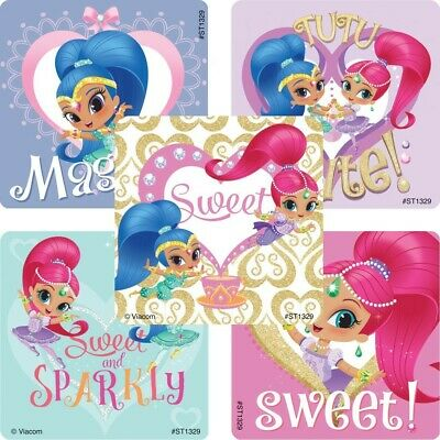 Shimmer and Shine Stickers x 5 - Birthday Party Favours Genie Loot Ideas Bags
