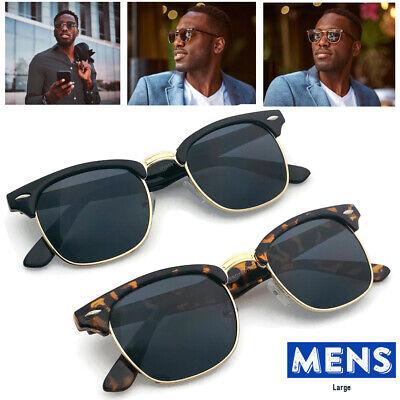 XL Large Half Frame Retro Vintage Glasses Men's Sunglasses Big Head Wide (Big Frame Sunglasses Mens)