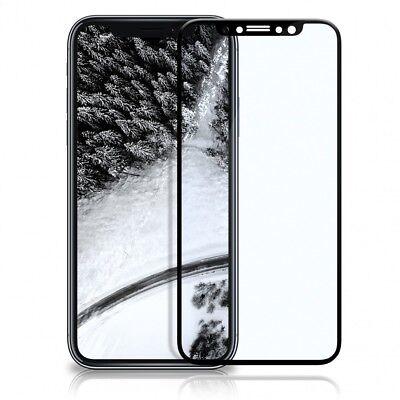 3D Panzer Glasfolie iPhone X Curved Display Schutz Folie Full Screen Echt Glass
