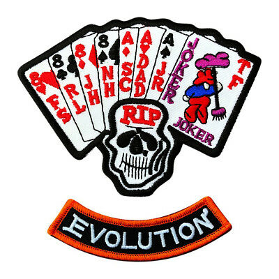 Joker Evolution (Harley Marlboro Man Movie Ace Joker Dead Man's Hand Evolution Iron on Patch)