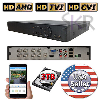 Sikker 8 CH channel DVR Recorder Security System 1080P HDMI