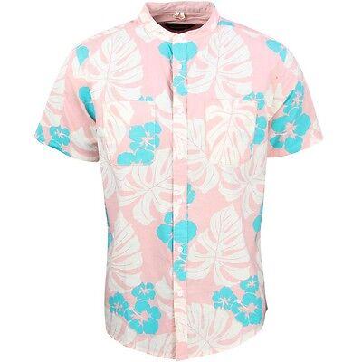 10 Deep Men Beach Bum Stand Collar Shirt pink