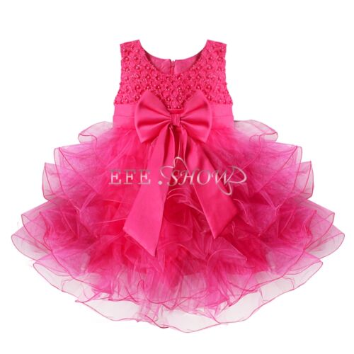 Flower Girl Kids Toddler Baby Princess Party Wedding Lace Tulle Skirt ...