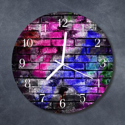 Tulup Reloj de pared de cristal cocina silencioso redondo 30 cm Ladrillo...