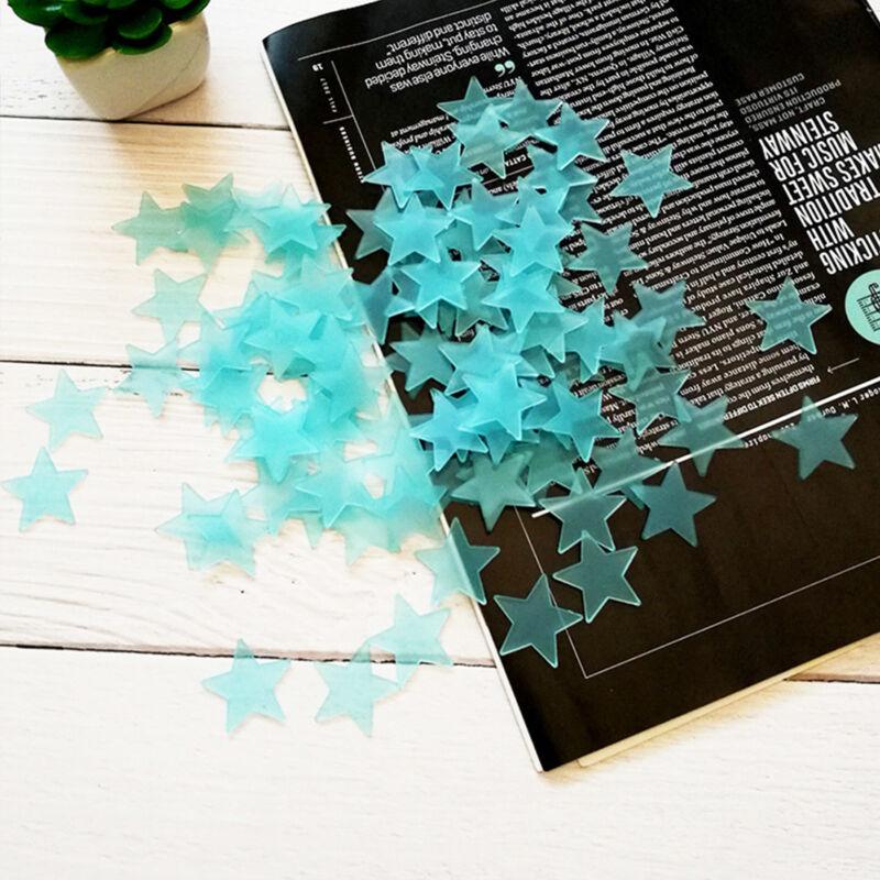 Glow In The Dark Stars Multi Pack Wall Stickers Kids Bedroom Nursery Ceiling Fun