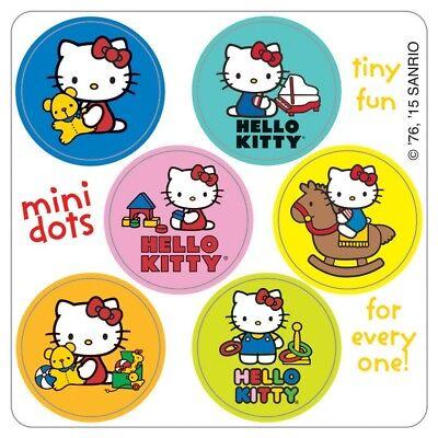 120 Hello Kitty Mini Dot STICKERS Party Favors Birthday Supplies Treat Loot - Hello Kitty Treat Bags