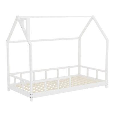 Kids Bed Single Bedstead Pine Wood House Bed Frame Children Bedroom Furniture