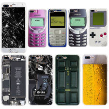 For iPhone XS Max XR X 8 7 6 5 Game Boy Pattern Soft Silicone Phone Case Cover