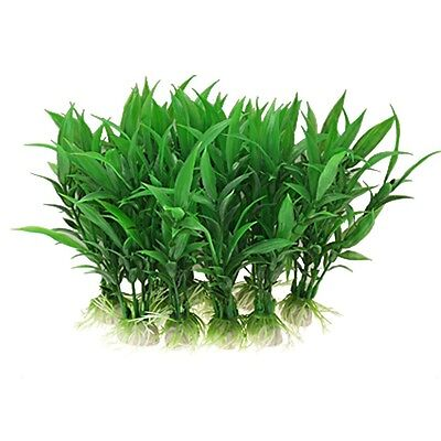 "6.5 "" Tall Plastic Aquarium Tank Plants Grass Decoration, 10-Piece"