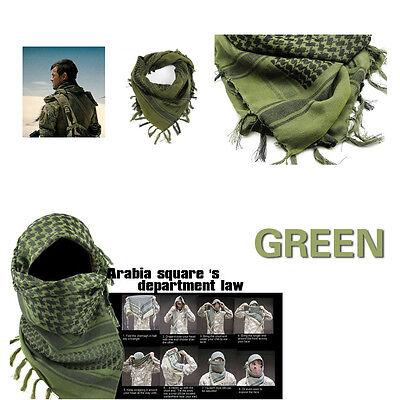 Green&Black MFR Arab Shemagh Kaffiyeh Turban Palestine Wrap Scarf Shawl Military